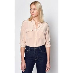 Equipment Signature Silk Slim Top
